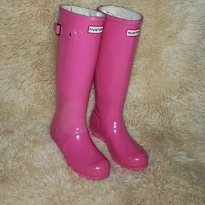 Hunter Original Tall Glossy  Rain Boot Size 5.